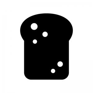 トーストの白黒シルエットイラスト03