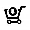 ショッピングカートに入れる白黒シルエットイラスト03