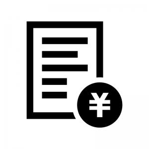 見積書の白黒シルエットイラスト02