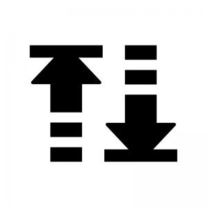 並べ替え・ソートの白黒シルエットイラスト03