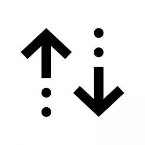 並べ替え・ソートの白黒シルエットイラスト04