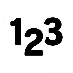 数字の白黒シルエットイラスト