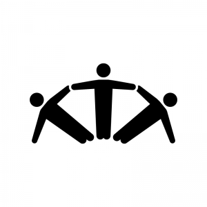 組体操のシルエット02 無料のaipng白黒シルエットイラスト