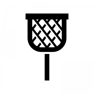 玉入れの白黒シルエットイラスト
