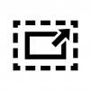 フルスクリーンへ切り替えの白黒シルエットイラスト02