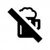 お酒類の禁止の白黒シルエットイラスト