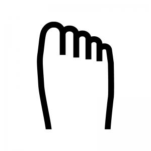 足の白黒シルエットイラスト03
