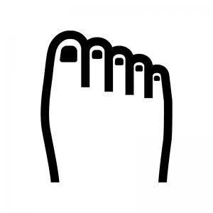 足の白黒シルエットイラスト04