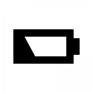 電池・バッテリー切れの白黒シルエットイラスト02