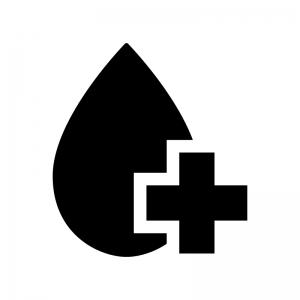 献血の白黒シルエットイラスト