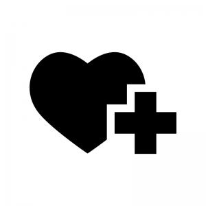 献血の白黒シルエットイラスト02