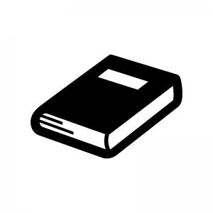 本・ブックスの白黒シルエットイラスト03
