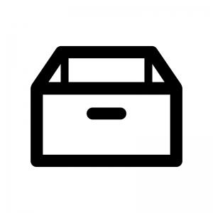 箱・物入れの白黒シルエットイラスト
