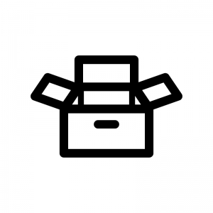 箱・物入れの白黒シルエットイラスト02