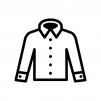 Yシャツの白黒シルエットイラスト03