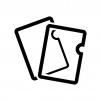 クリアファイルの白黒シルエットイラスト02