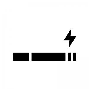 電子タバコの白黒シルエットイラスト