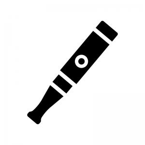 電子タバコの白黒シルエットイラスト02