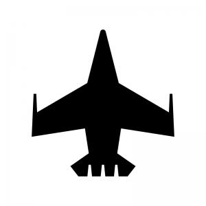 戦闘機の白黒シルエットイラスト02