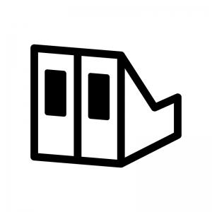 ファイルボックスの白黒シルエットイラスト