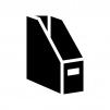 ファイルボックスの白黒シルエットイラスト02