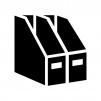 ファイルボックスの白黒シルエットイラスト03