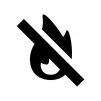 火気厳禁の白黒シルエットイラスト02