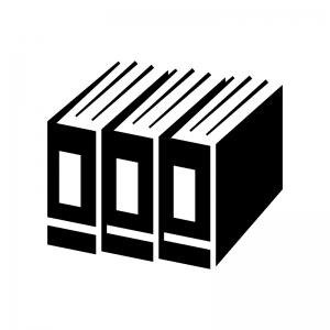 ファイリングの白黒シルエットイラスト02