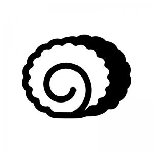 伊達巻の白黒シルエットイラスト