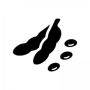 枝豆の白黒シルエットイラスト02