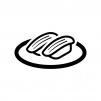 イカの握り寿司の白黒シルエットイラスト02