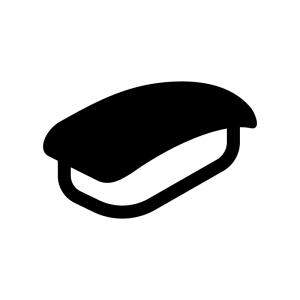 マグロの握り寿司の白黒シルエットイラスト
