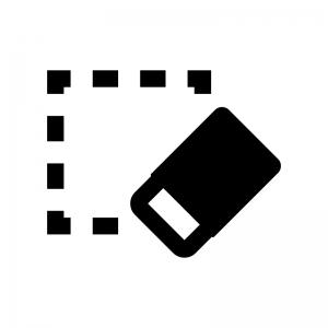 書式のクリアの白黒シルエットイラスト