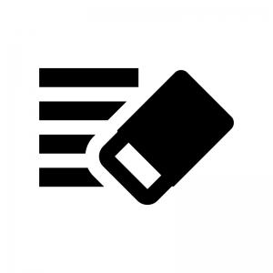 書式のクリアの白黒シルエットイラスト02