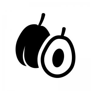 プルーンの白黒シルエットイラスト02