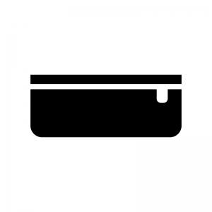 筆箱・ペンケースの白黒シルエットイラスト