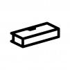 筆箱・ペンケースの白黒シルエットイラスト03