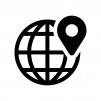 地図を検索の白黒シルエットイラスト03