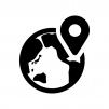 地図を検索の白黒シルエットイラスト04