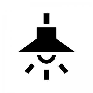 ペンダントライトの白黒シルエットイラスト04