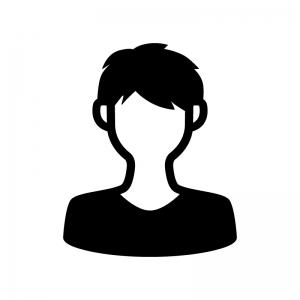 人物(男性)の白黒シルエットイラスト02