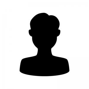人物(男性)の白黒シルエットイラスト03