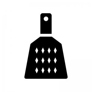 おろし金の白黒シルエットイラスト