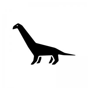 恐竜の白黒シルエットイラスト