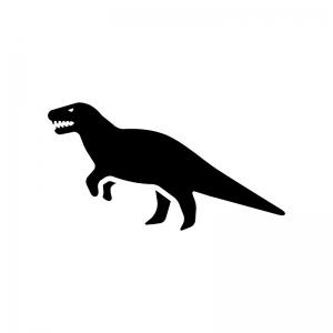 恐竜の白黒シルエットイラスト02