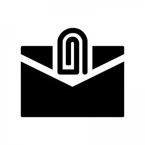 添付メールの白黒シルエットイラスト03