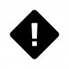 注意マークの白黒シルエットイラスト03