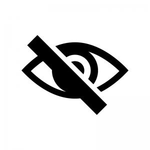 非表示の白黒シルエットイラスト02