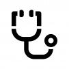 聴診器の白黒シルエットイラスト04