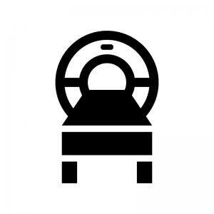 MRIの白黒シルエットイラスト